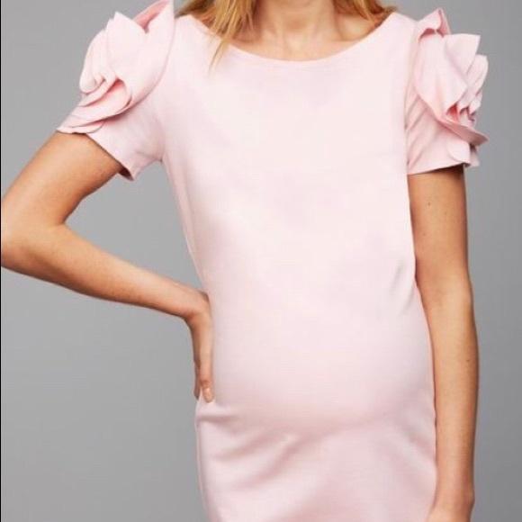 a67713630bb48 Pietro Brunelli Ruffled Maternity Dress Pink Small.  M_5a8218598af1c55c1f6f371a